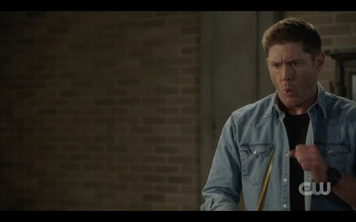 Dean Winchester reacts to Jack being flung to floor.