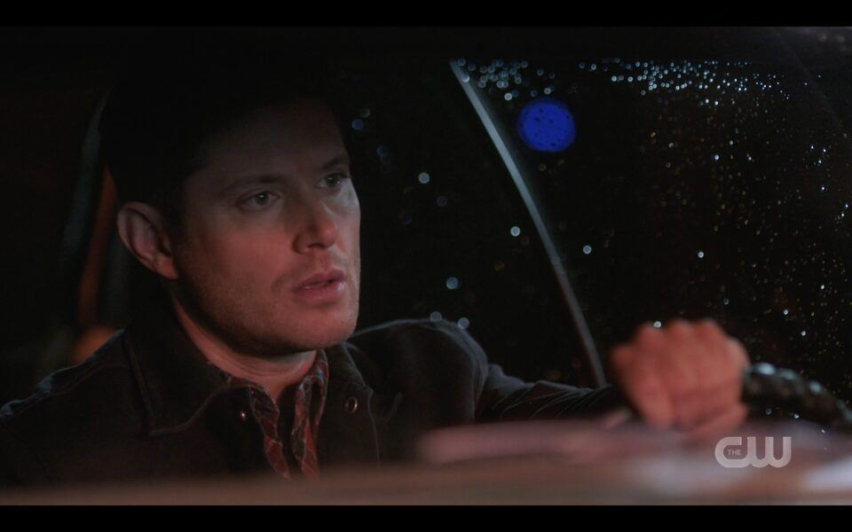Supernatural Devastated Dean Winchester driving off into night 1516