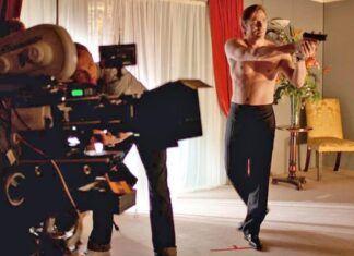 daniel craig shirtless shooting images james bond 2020
