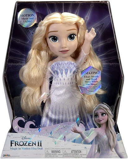 frozen 2 magic in motion elsa singing doll 2020 hot toys