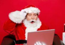 santa claus forced online this holiday season 2020 images