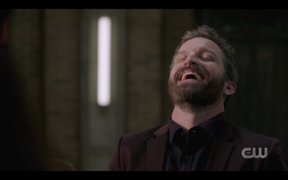 Chuck laughing that hes immortal to Amara SPN