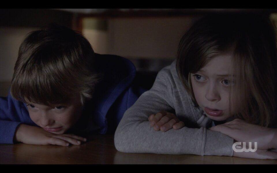 Kids hiding from Supernatural clownpires Finale