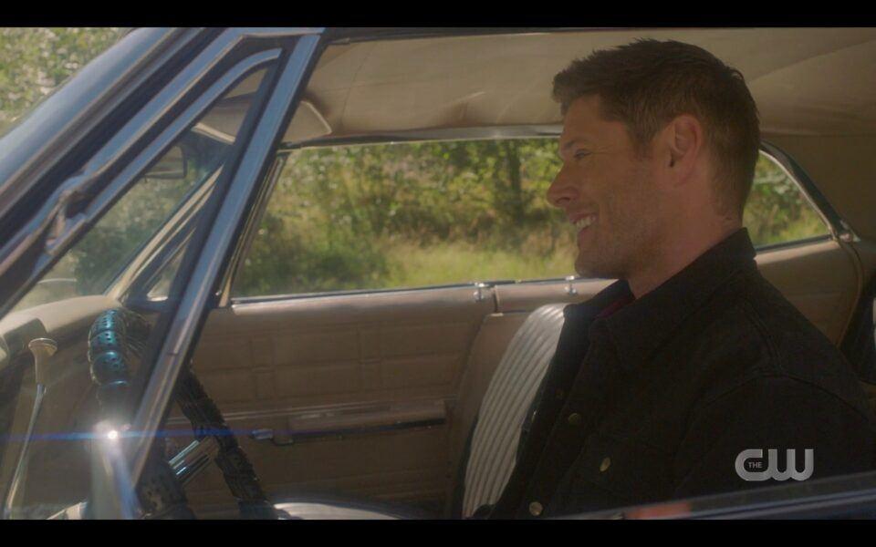 SPN Dead Dean Winchester singing Carry Oin driving Impala in heaven