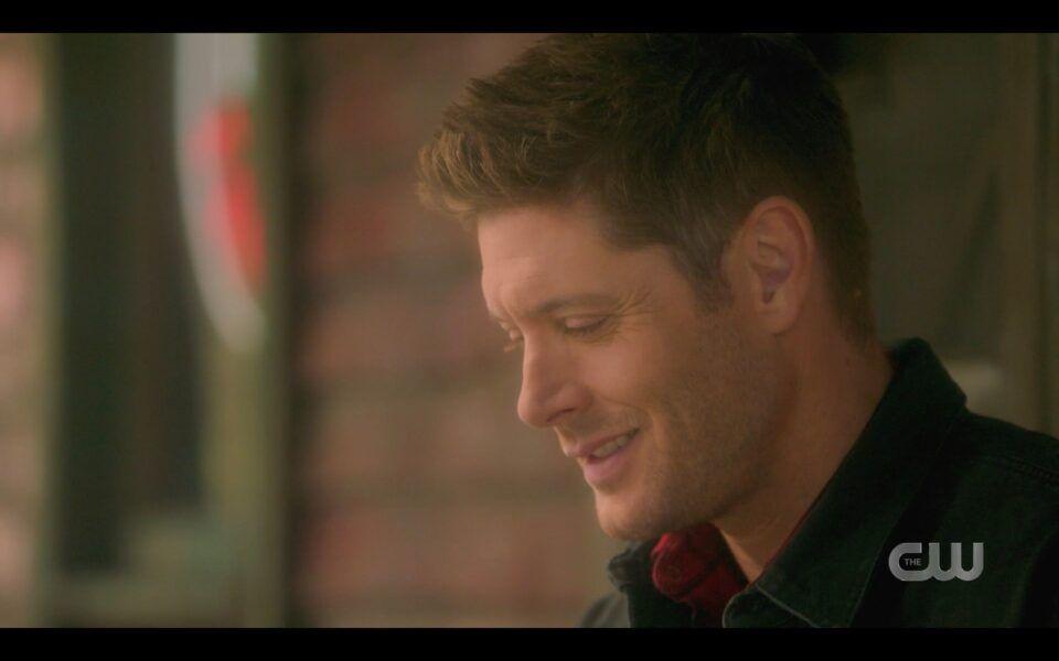 SPN Dead Dean Winchester smiling at world Jack Castiel built for him