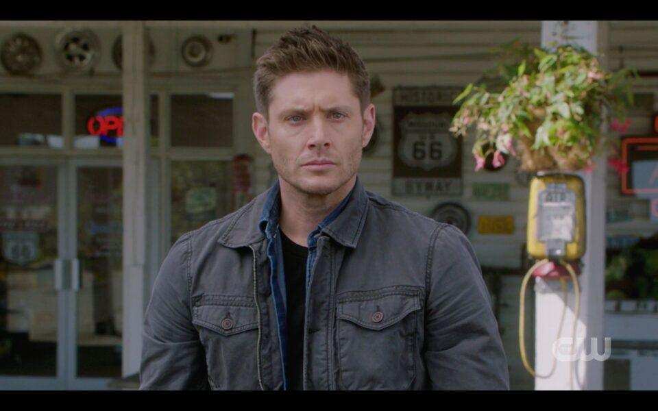 SPN Dean Winchester angry he can't save dog from Chuck 1519