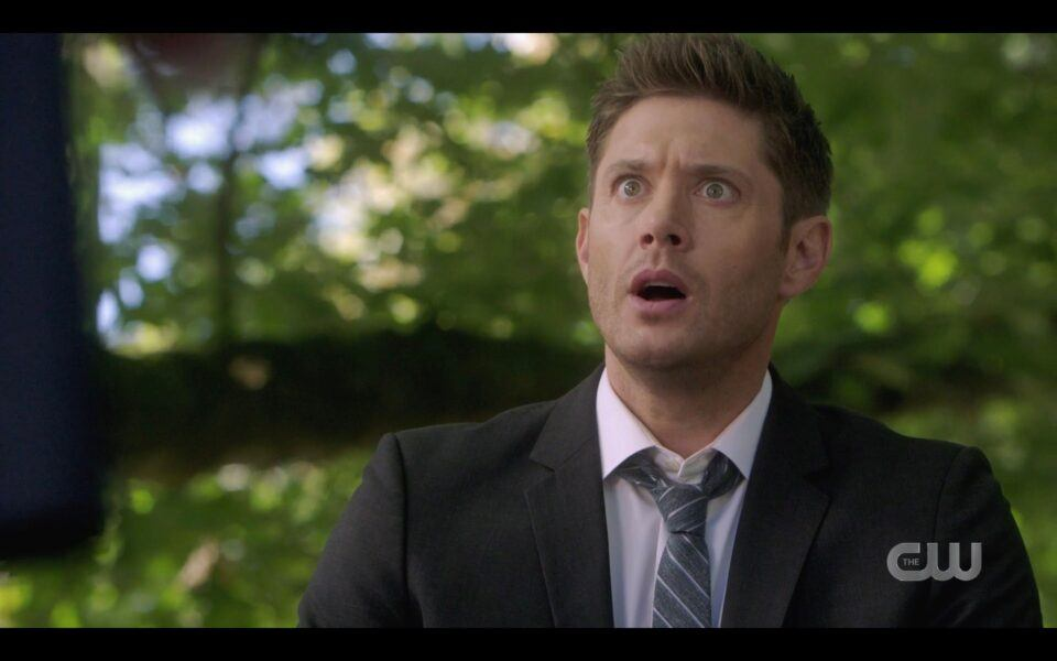 SPN Dean Winchester reacts to vampire mimes Finale