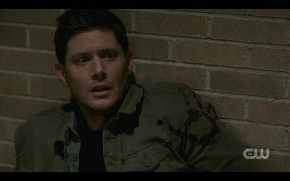 SPN Dean Winchester thrown to silo floor from Castiel Destiny