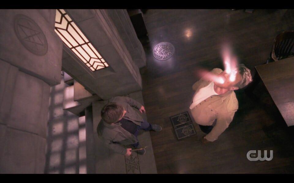 SPN Mark Pellegrino Lucifer dying in bunker finale 1519