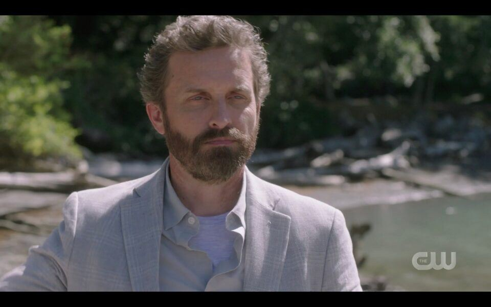 SPN Rob Benedict Chuck appears on beach in suit finale