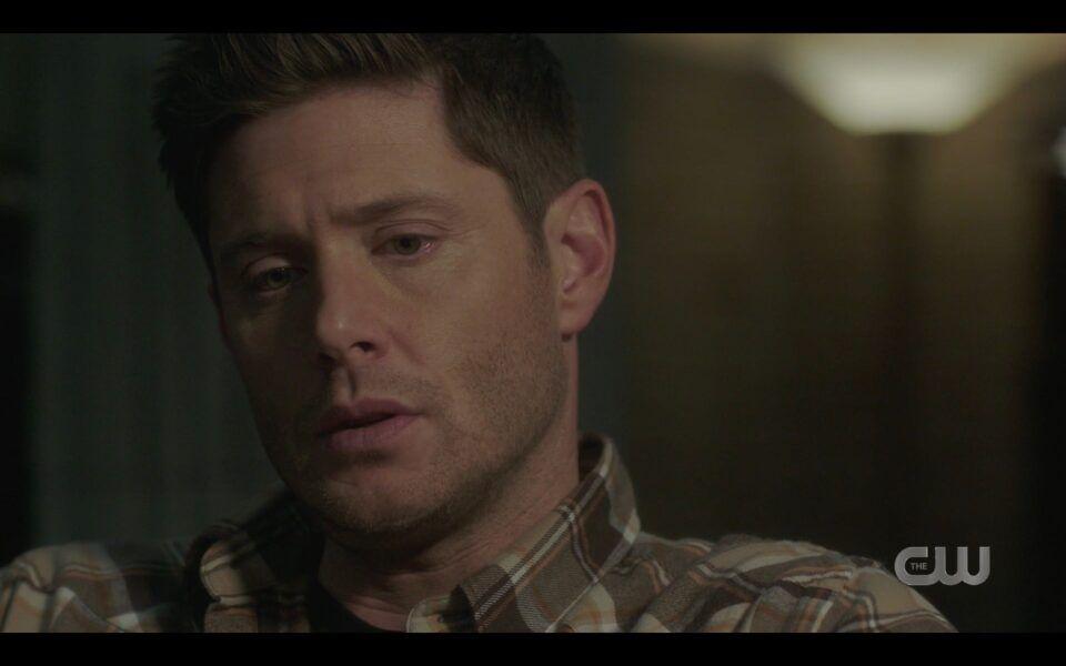SPN Sam Dean Winchester sitting silent drinking Destiny