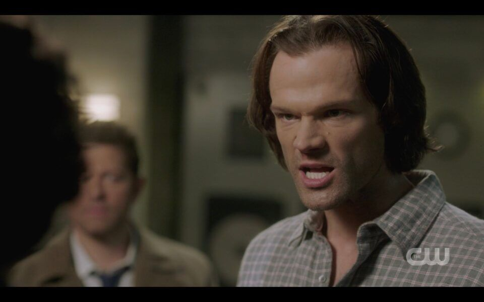 SPN Sam Winchester angry yell at Billie