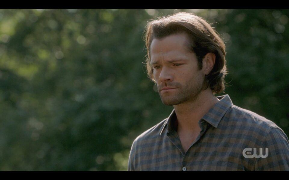 SPN Sam Winchester at Deans funeral pyre 1520