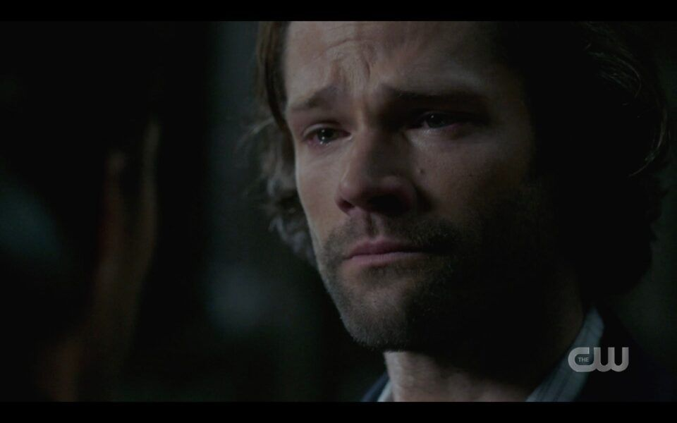 SPN Sam Winchester begins crying with Dean