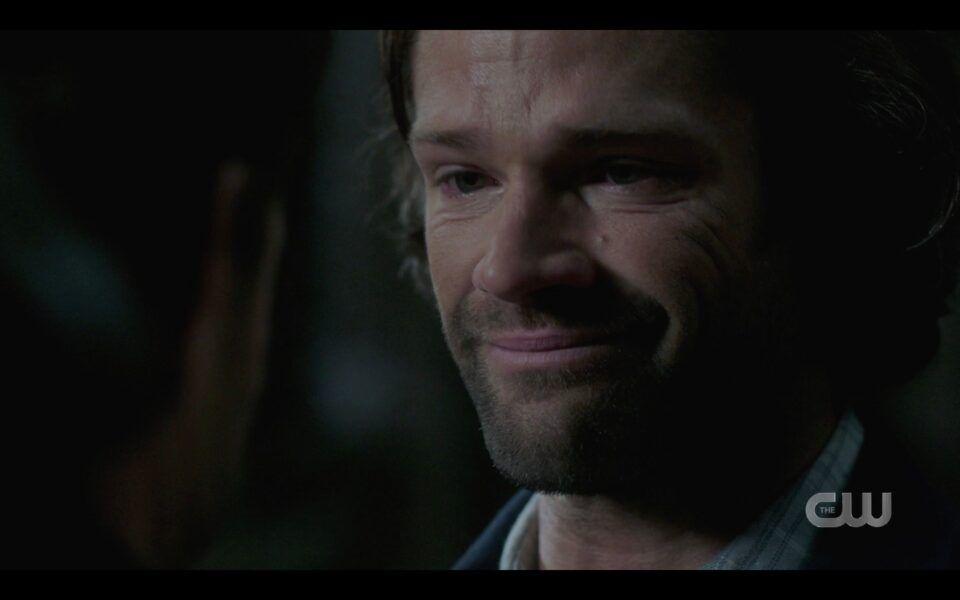 SPN Sam Winchester gives Dean smile