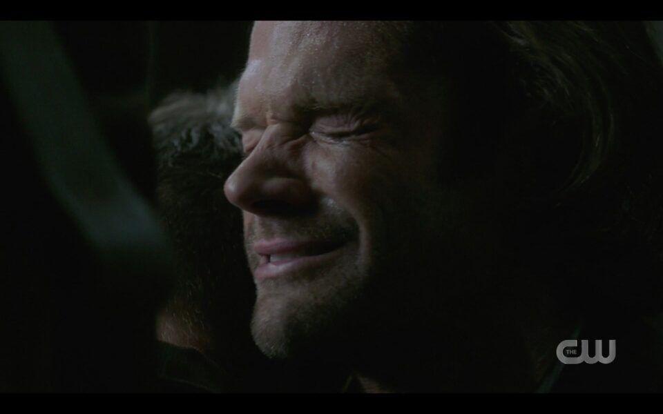 SPN Sam Winchester sobbing when Dean dies