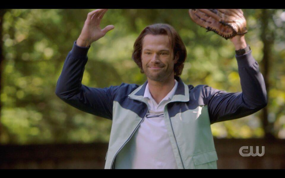 SPN Young Sam Winchester playing with Dean Jr