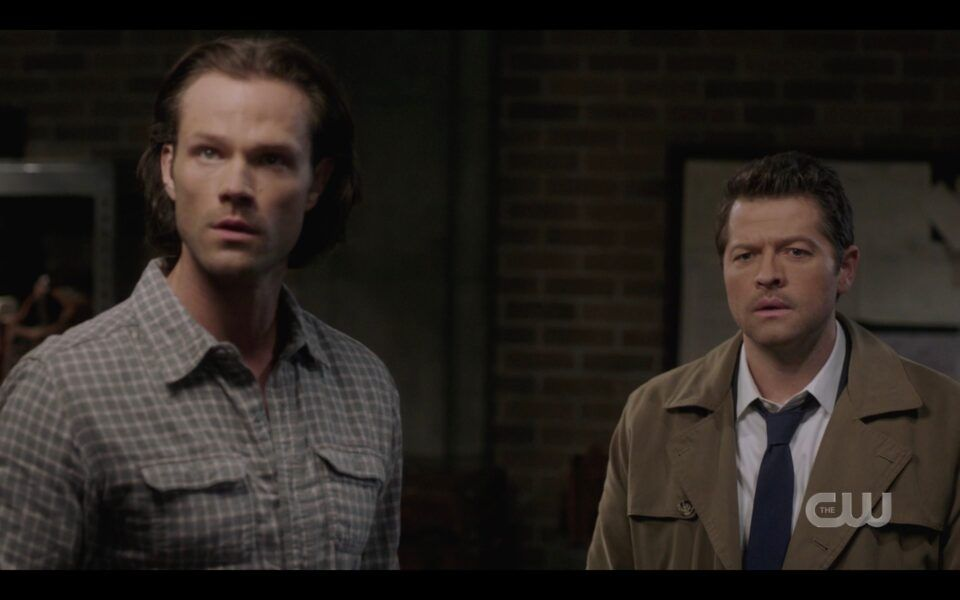 Sam Winchester Cas react to keyhole magically appearing in wall SPN Unity