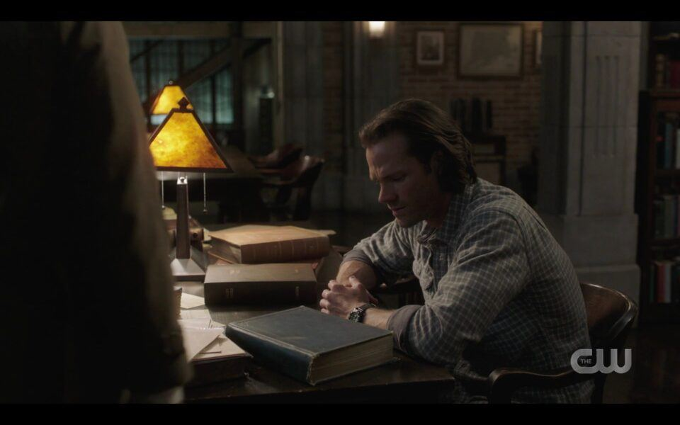 Sam Winchester frustrated with Chucks death book SPN Unity