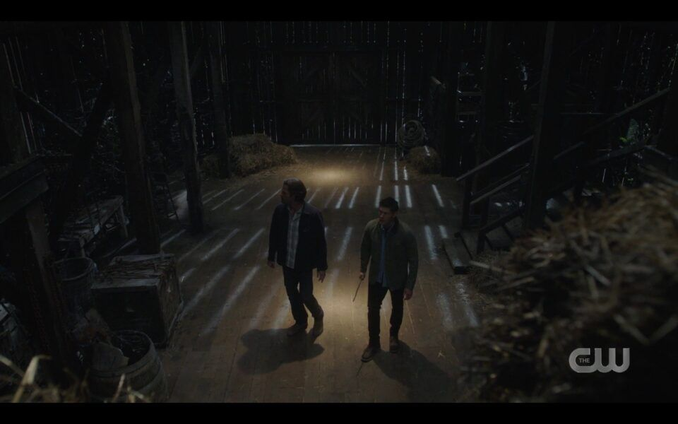 Supernatural Finale Carry On Dean Sam Winchester barn before death