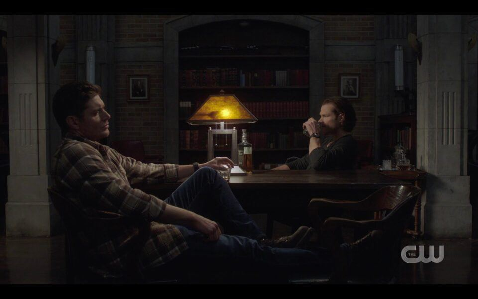 Supernatural Winchester brothers drinking at table 1518
