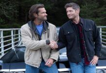 Supernatural jensen ackles shaking hands with jarod images