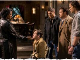 supernatural 1518 despair billie holding jacks chin with winchesters mttg