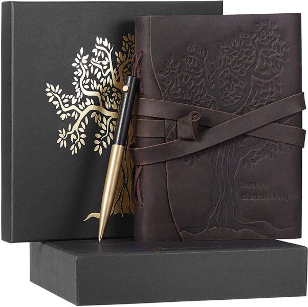 beautiful leather bound tree of life journal perfect holiday gifts
