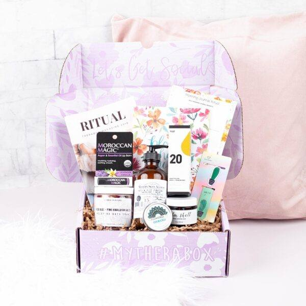 therabox destressing relaxing subscription box hot holiday gifts 2020
