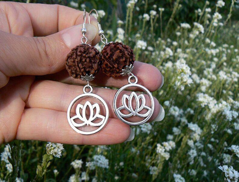 zen lotus buddhist earrings hot holiday gift ideas