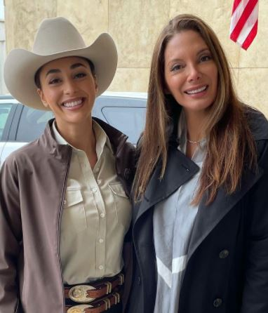 Alex Meneses with Lindsey Morgan on CW's Walker mother daughter mttg