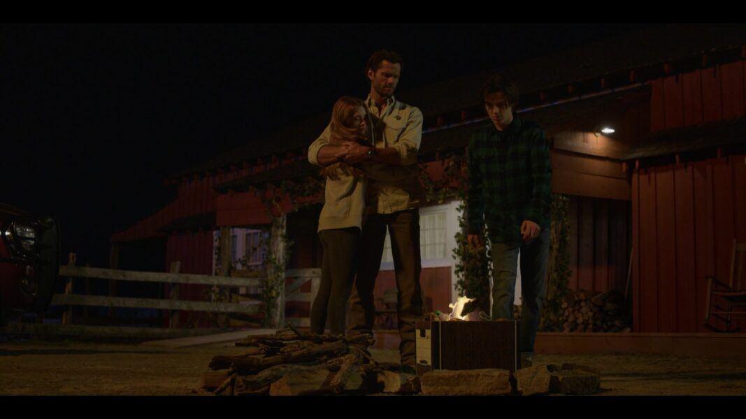 Walker 105 Jared Padalecki burning box of Dukes belongs wiht kids