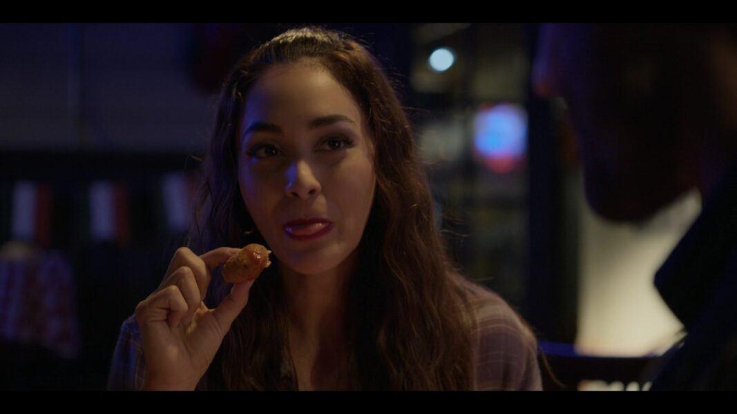 Walker 105 Micki undercover as Adriana at Karaoke bar