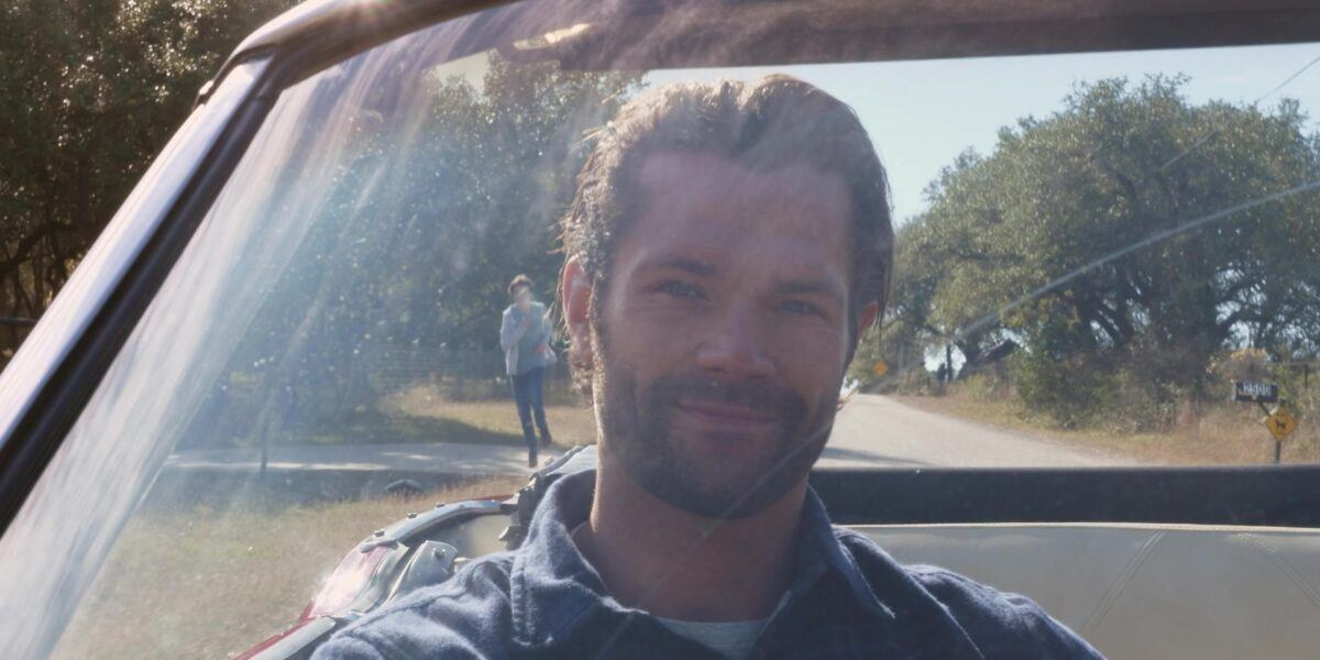 Walker Jared Padalecki riding with Daughter Stella in car 103