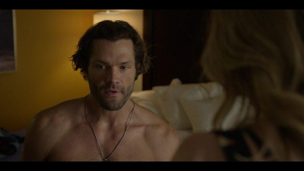 Walker Jared Padalecki trying hard to get things up for Twyla in motel room