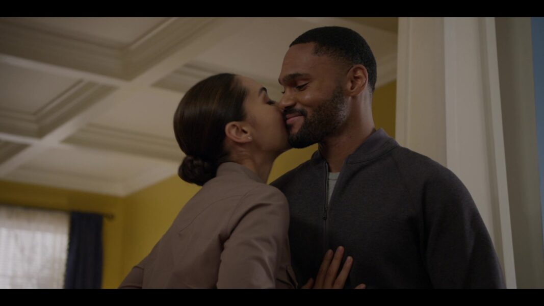 Walker Micki gives Trey a sloppy fun kiss 104