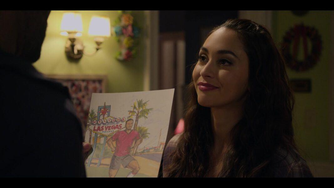 Walker Micki shows Trey drawing she made of Las Vegas 105