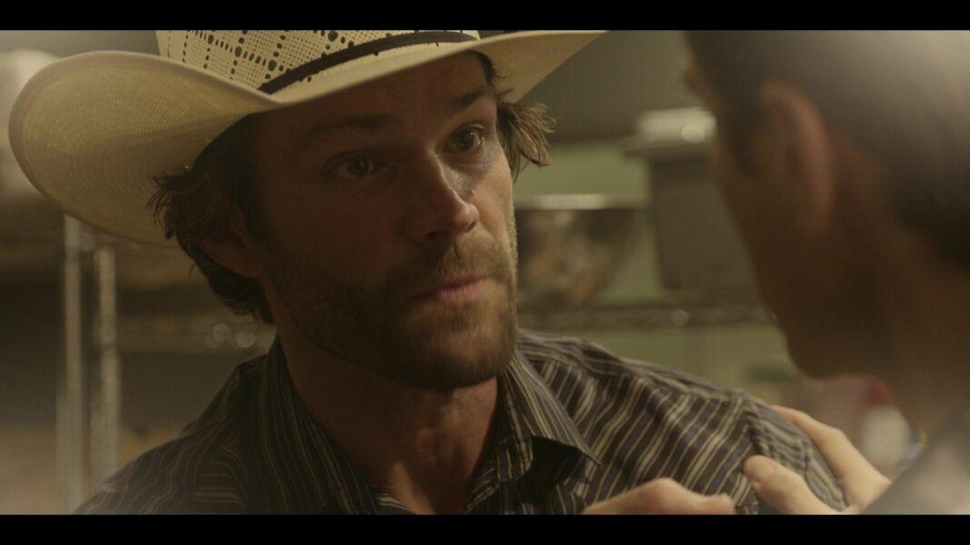 Walker cowboy hat with Liam in back room drunk