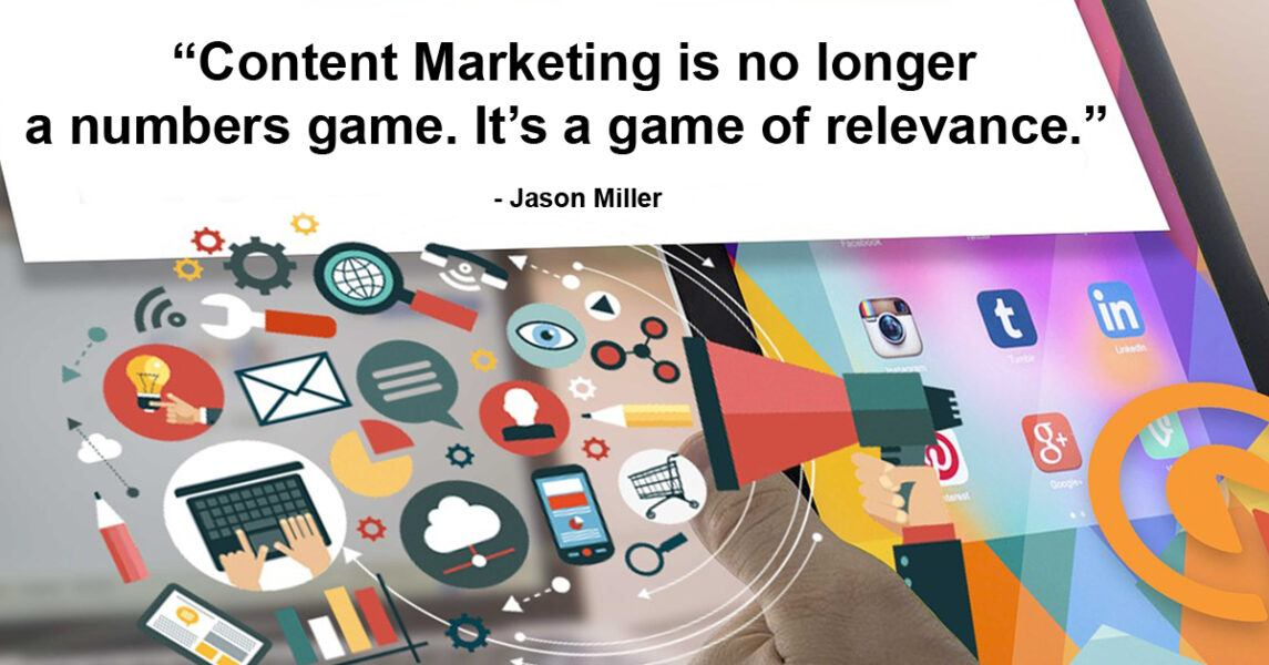 content marketing no longer numbers game but game of relevance