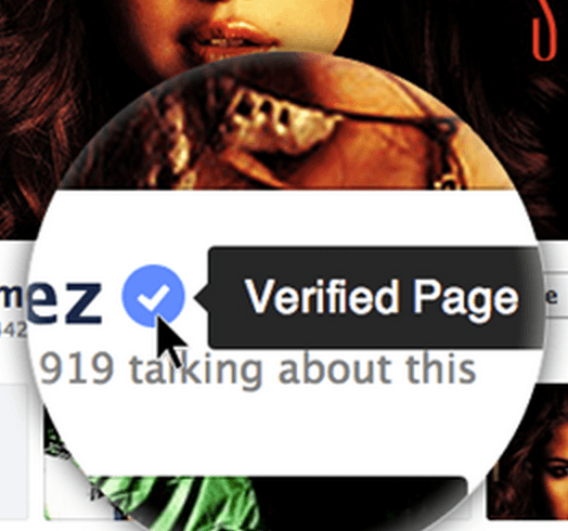 facebook verified page blue checkmark