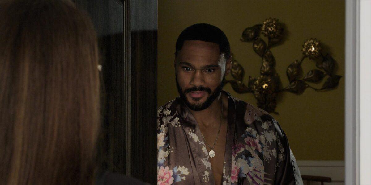 Walker Trey in robe open exposing to Adriana