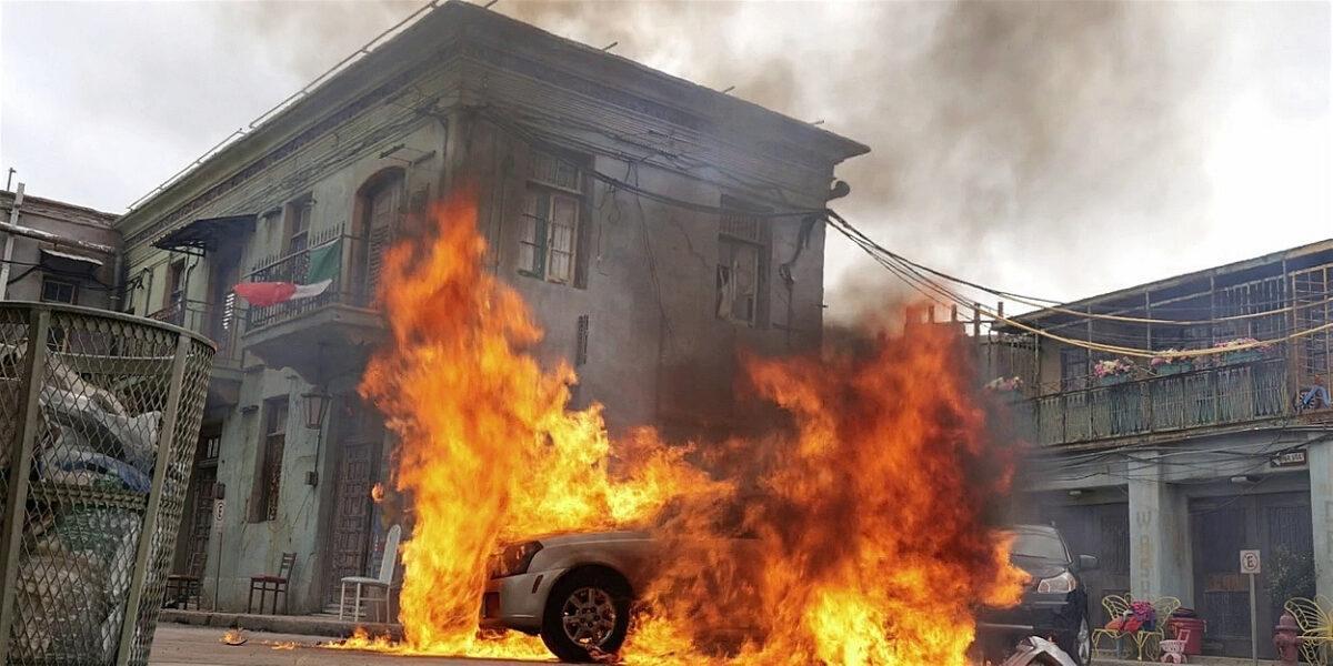 Jared Padaleckis Walker truck explodes in Tracks.