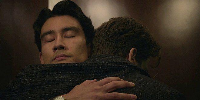 Walker Bret holding Liam tight in hug 108.