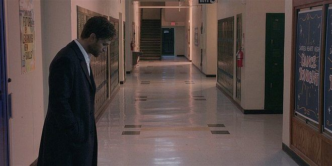 Liam out in hallway after telling Brett he loved him. 108