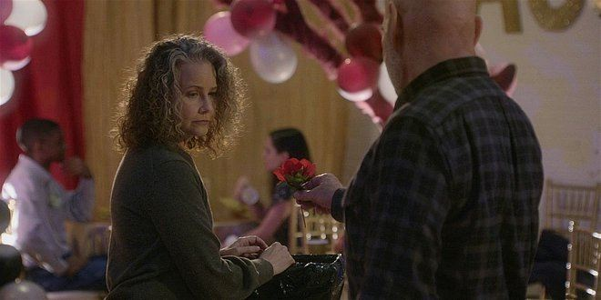 Walker Bonham gives Anabelle flowers at dance 108.