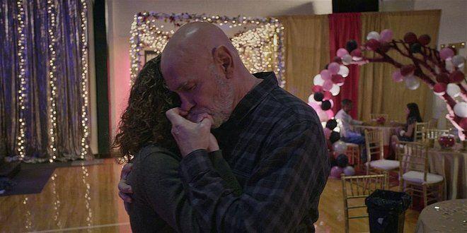 Bonham Mitch Pileggi dancing with Anibell on school dance floor Walker 108.