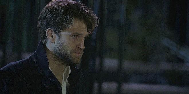 Keegan Allen crying on Walker with Jared Padalecki.