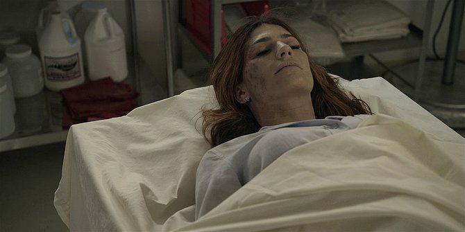Walker dead wife Emily on coroners slab 109.