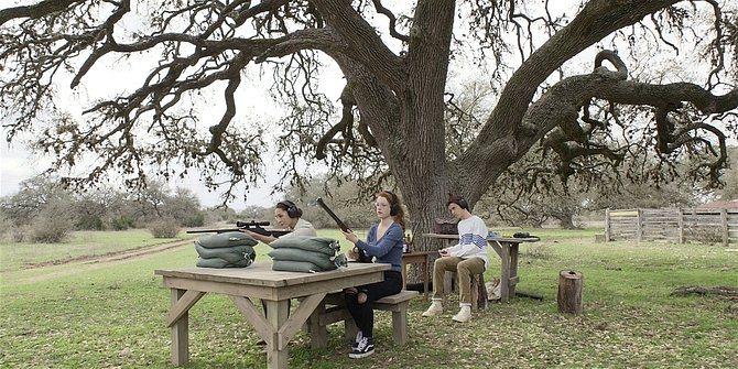 Walker Micki shooting range scene with Stella and Augie 109.