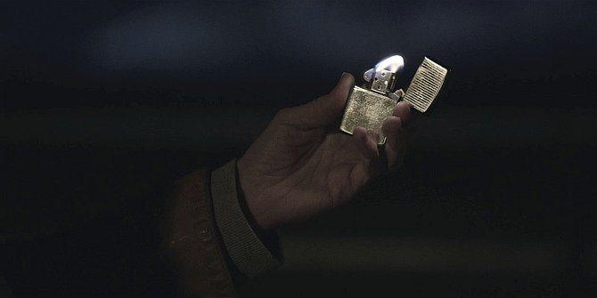Walker Cali flicking her lighter at Jared Padalecki 109.